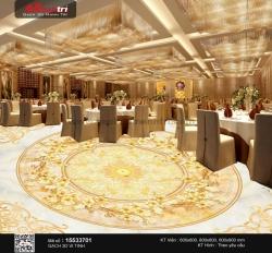 Trang trí nhà hàng thật đẳng cấp với gạch 3D lát sàn