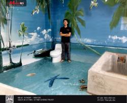 Trang trí nhà vệ sinh bằng gạch 3D - bạn đã thử chưa?