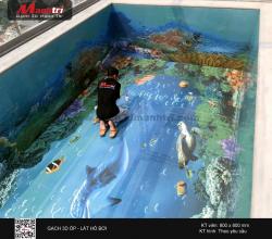 Tranh gạch 3D cho hồ bơi, hồ cá thêm ấn tượng