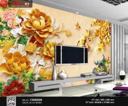 Gạch 3D Hoa Mẫu Đơn 13060088 - 3.490.000 đ/bộ
