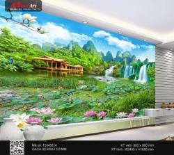 Gạch 3D tranh sơn thủy