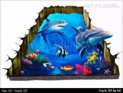 Trên tay gạch 3D ốp tường - lát sàn Đại Dương