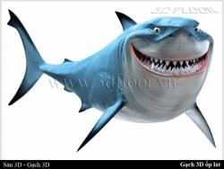 Trên tay gạch 3D ốp tường - lát sàn Cá Mập