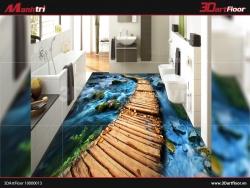 KHUI HỘP GẠCH 3D MẠNH TRÍ MẪU ĐƯỜNG ĐI BẰNG GỖ QUA SUỐI
