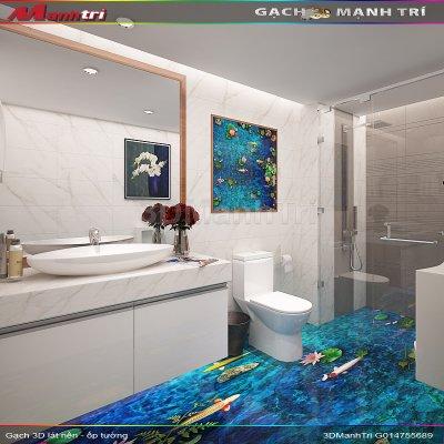 Mẫu thiết kế gạch 3D nhà vệ sinh 2