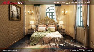Mẫu thiết kế gạch 3D phòng ngủ 2
