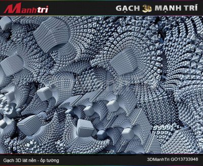 Gạch 3D Mạnh Trí GO13733948