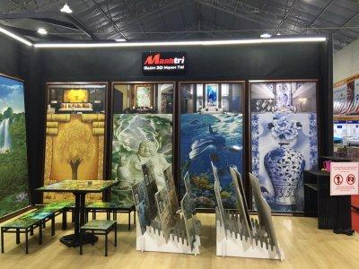 Chùm ảnh gian hàng gạch 3D Mạnh Trí tại Triển lãm VietBuild 08/2016
