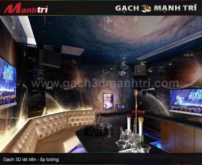 Mẫu thiết kế gạch 3D phòng Karaoke 1