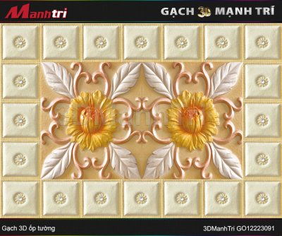 Gạch 3D Mạnh Trí GO12223091