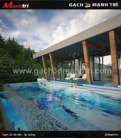 Mẫu thiết kế gạch 3D hồ bơi 1