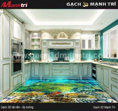 Mẫu Thiết Kế Gạch 3D Nhà Bếp 4