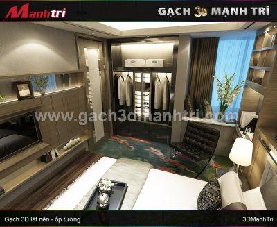 Mẫu thiết kế gạch 3D phòng ngủ 8