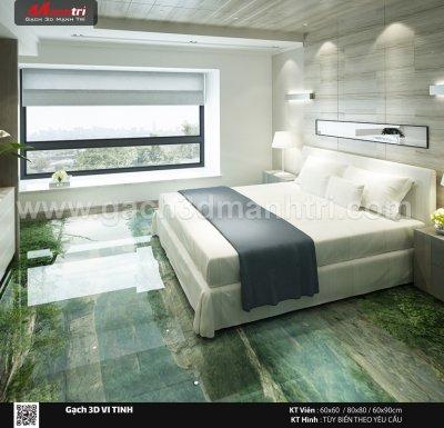 Mẫu thiết kế gạch 3D phòng ngủ 9