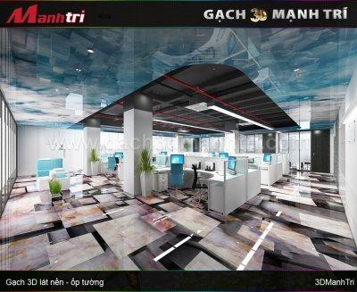 Mẫu Gạch 3D Phòng Làm Việc