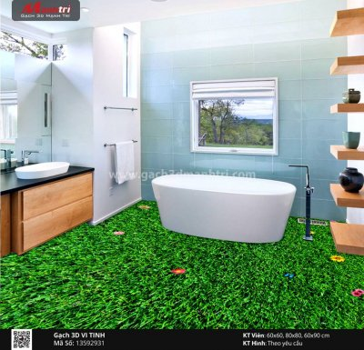 Thi công lát sàn nhà đơn giản với gạch 3D