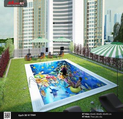 Mẫu thiết kế gạch 3D hồ bơi 4