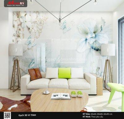 Mẫu thiết kế gạch 3D phòng khách 10
