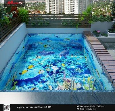 Mẫu thiết kế gạch 3D hồ bơi 7
