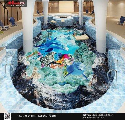 Mẫu thiết kế gạch 3D hồ bơi 8