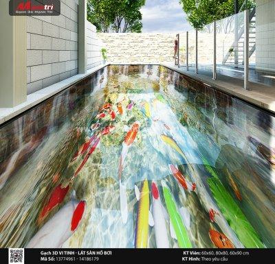 Mẫu thiết kế gạch 3D hồ bơi 12