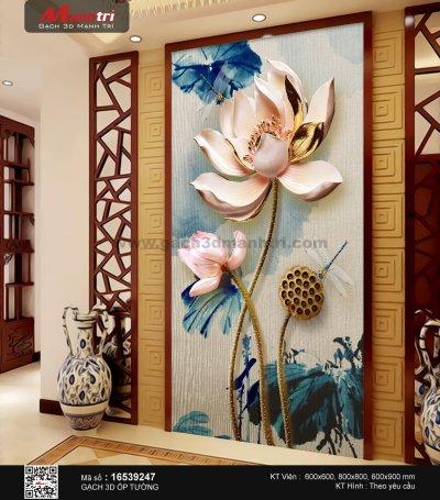 Gạch 3D ốp tường hoa sen đẹp như thế nào?