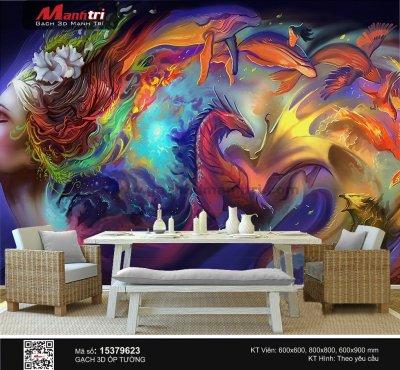 Gạch 3D ốp tường đẹp cho quán cà phê phong cách