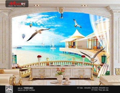 Gạch 3D khung cửa sổ - Giải pháp mở rộng không gian căn phòng