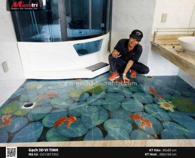 Cần sự đột phá cho không gian nhà vệ sinh: Gạch 3D