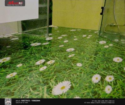 Lát nền nhà vệ sinh bằng gạch 3D có khó lắm không?