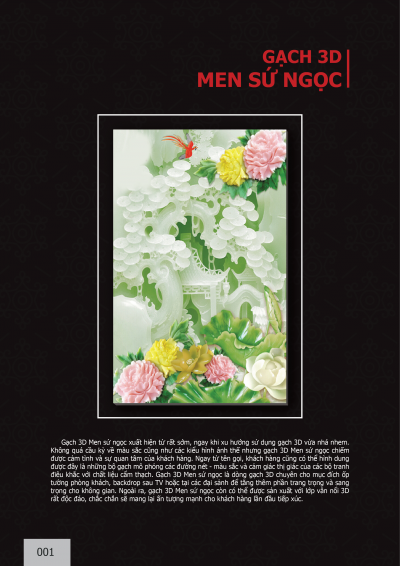 Catalogue chủ đề Men sứ ngọc