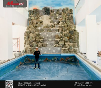 Công trình 3D thực tế tại  hồ bơi nhà anh Vinh, Phú Quốc