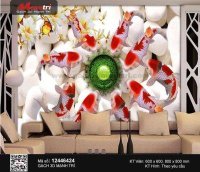 Gạch 3D Cá Chép Cá Koi