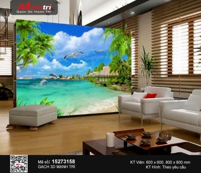 Gạch 3D Biển Xanh