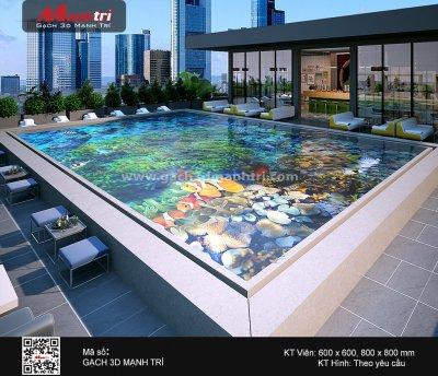 Mẫu Gạch 3D Hồ Bơi