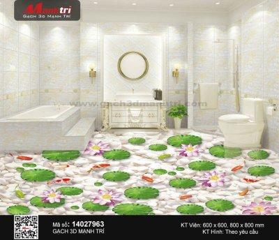 Mẫu Gạch 3D Phòng Tắm