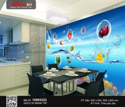 Mẫu Gạch 3D Phòng Ăn
