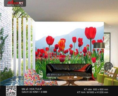 Gạch 3D Tranh Hoa Tulip - 3.000.000 đ