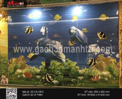 Gạch 3D Cá Heo ốp tường - 3.000.000 đ