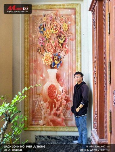 Công trình gạch 3D thực tế tại nhà chị Hiếu, quận Bình Tân