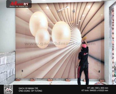 Công trình gạch 3D thực tế ở nhà chú Thắng, Tân Phú