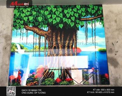 Công trình gạch 3D thực tế ở nhà chú Thắng, Bình Chánh