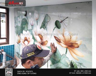 Công trình gạch 3D thực tế ở nhà anh Sơn, quận 10