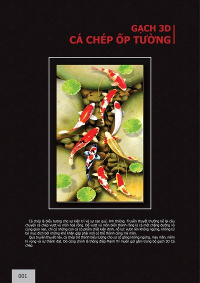 Catalogue chủ đề cá Chép ốp tường