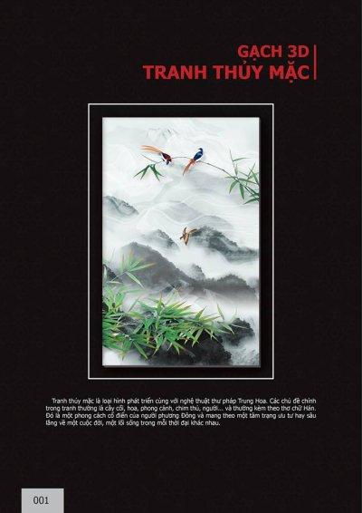 Catalogue chủ đề Tranh thủy mặc 3D