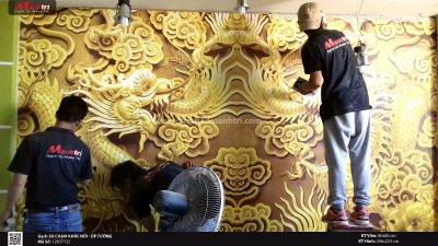 Hướng dẫn thi công ốp tường bằng gạch 3D đúng kỹ thuật