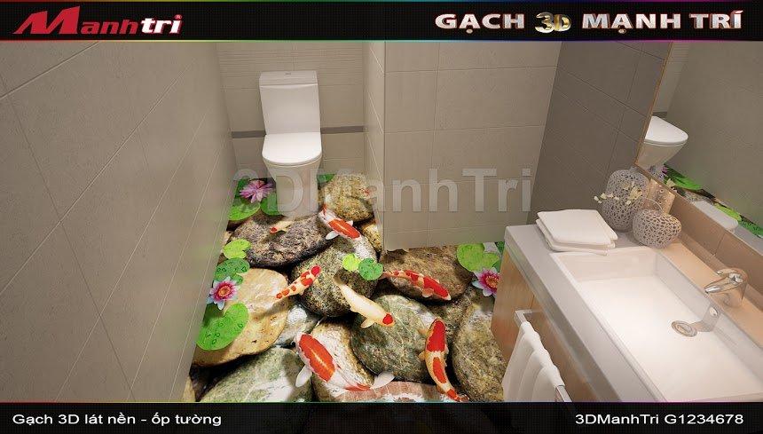 Mẫu thiết kế gạch 3D nhà vệ sinh 1