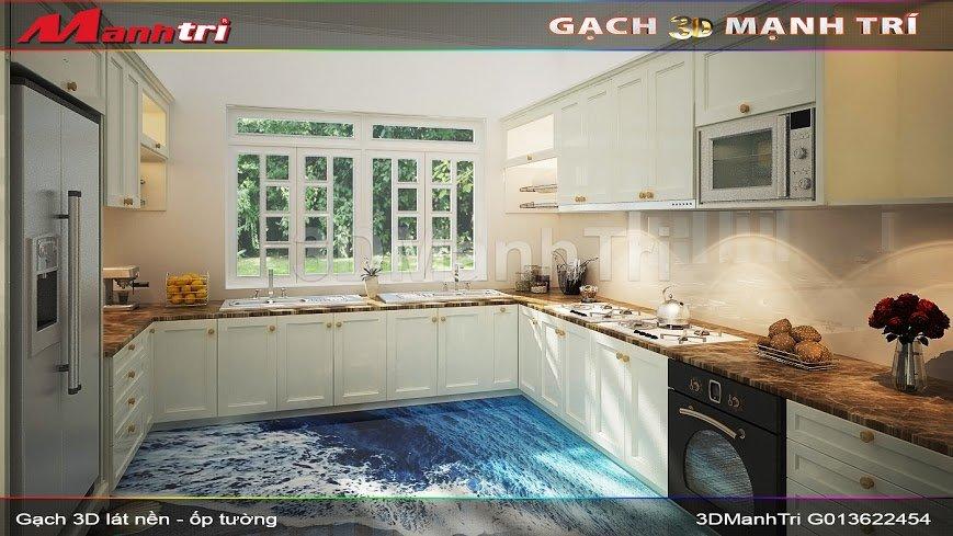 Mẫu Thiết Kế Gạch 3D Nhà Bếp 1