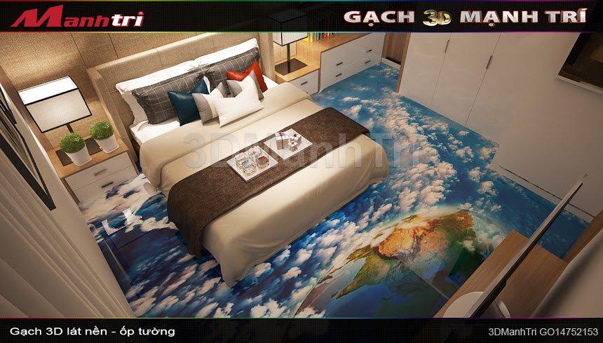 Mẫu thiết kế gạch 3D phòng ngủ 1