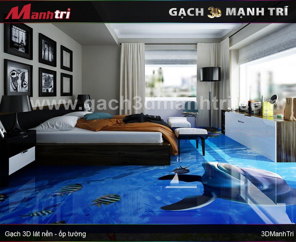 Mẫu thiết kế gạch 3D phòng ngủ 5